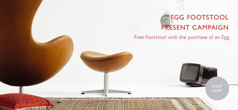 EGG CHAIR FOOTSTOOL PRESENT CAMPAIGN
